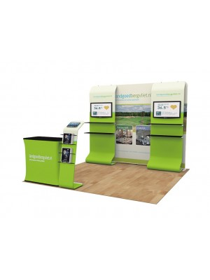 Convertible 10ft Portable Trade Show Display Kit