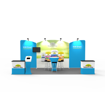 10 x 20ft Custom Trade show Booth Combo 01