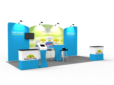 10 x 20ft Custom Trade show Booth Combo E