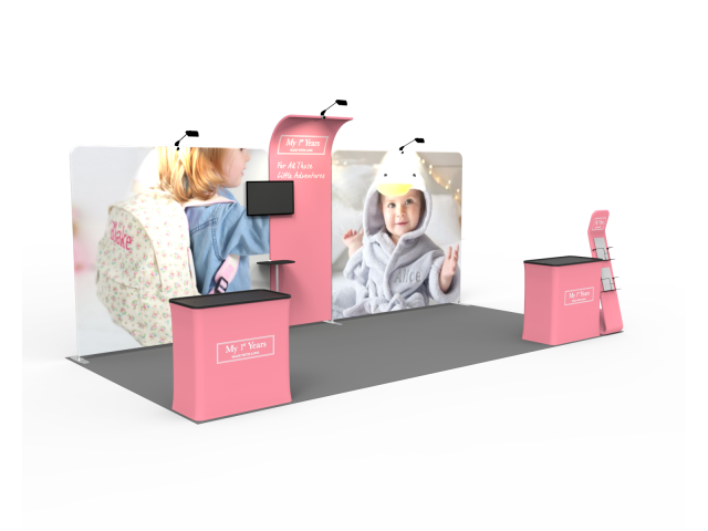 10 x 20ft Custom Trade show Booth Combo 04