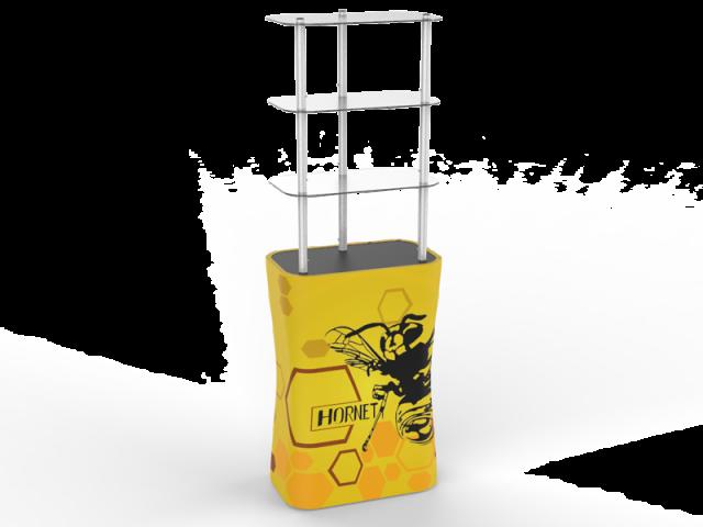 Rectangular Display Rack/Podium Tower with Graphic