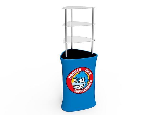 Triangular Display Rack/Podium Tower with Graphic
