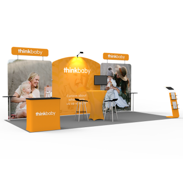 10 x 20ft Custom Trade show Booth Combo 06