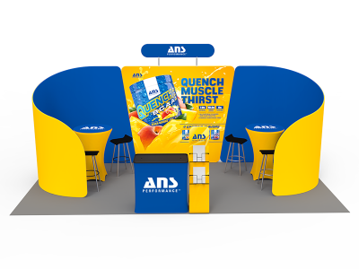 10 x 20ft Custom Trade show Booth Combo 09