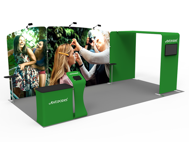10 x 20ft Custom Trade show Booth Combo 10