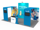 10 x 20ft Custom Trade show Booth Combo 15