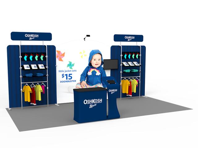 10 x 20ft Custom Trade show Booth Combo 19
