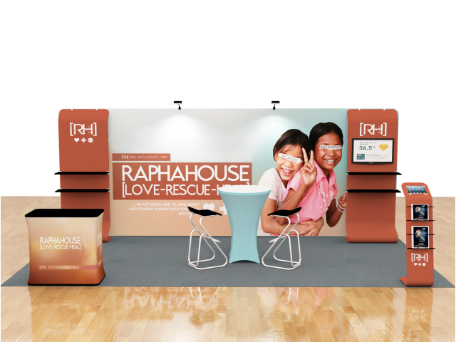 10 x 20ft Portable Exhibition Stand Display Booth A