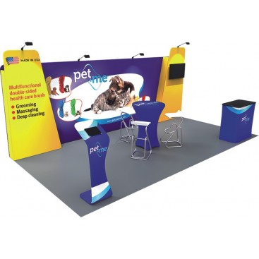 10 x 20ft Custom Trade show Booth Combo B