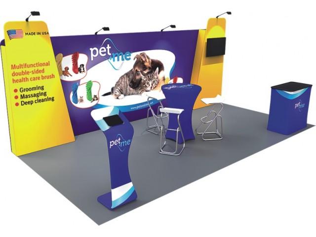 10 x 20ft Custom Trade show Booth Combo B