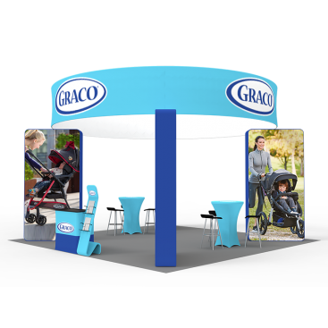 20 x 20ft Custom Trade show Booth Combo 04