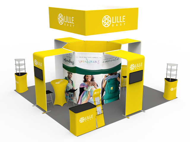 20 x 20ft Custom Trade show Booth Combo 05