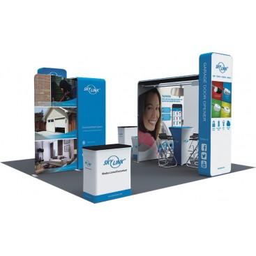 20 x 20ft Custom Trade show Booth Combo C