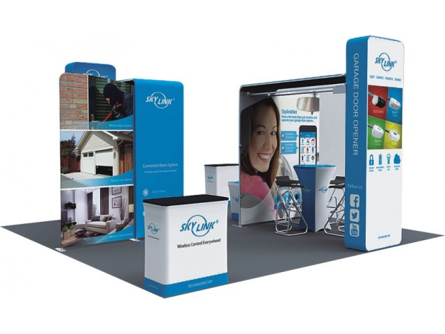 20 x 20ft Custom Trade show Booth Combo C