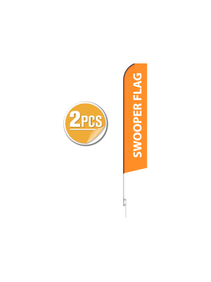 16ft Blade Flying Banner with Ground Spike - 2PCS