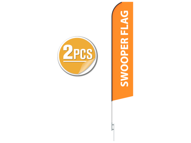 16ft Giant Economic Flying-Banner with ground spike-2PCS