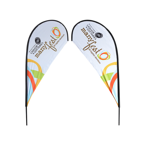 8ft Teardrop Flying Banner with Ground Spike - 2PCS