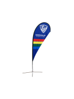 8ft Teardrop Flying Banner with Cross Base & Water Bag - 2PCS
