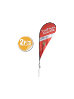 11ft Teardrop Flying Banner with Ground Spike - 2PCS