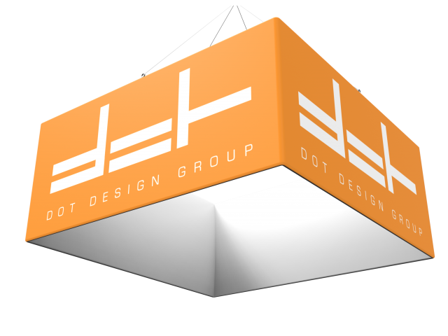 Custom Square Trade Show Hanging Banner