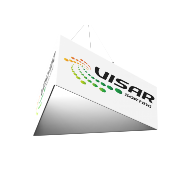 Custom Triangle Trade Show Hanging Banner