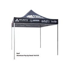 10ft Aluminum Pop Up Tent with Graphic