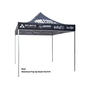 10x10ft Aluminum Pop Up Tent with Graphic