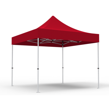 10 x 10ft  Pop Up Canopy with RED Roof