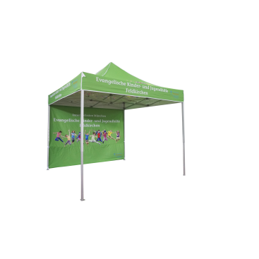10x10ft Aluminum Pop Up Tent with back side wall