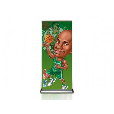Deluxe Double Sides Printed Roll Up Banner Stand with Teardrop Base