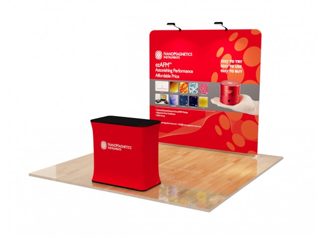 8ft Straight tension fabric trade show display kit