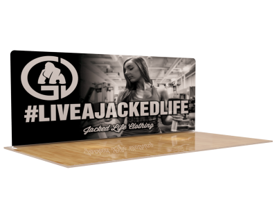 20ft Straight Expanding Pop up display