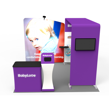 10 x 10ft Portable Exhibition Stand Display Booth 06