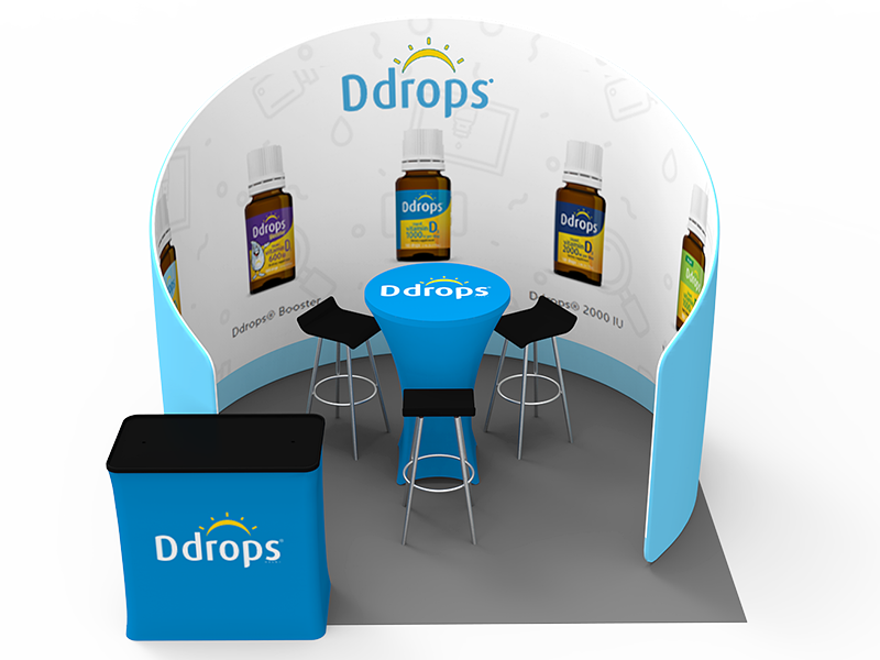 Portable Exhibition Booths : 10 x 10ft portable exhibition stand display booth 09 eastern signs