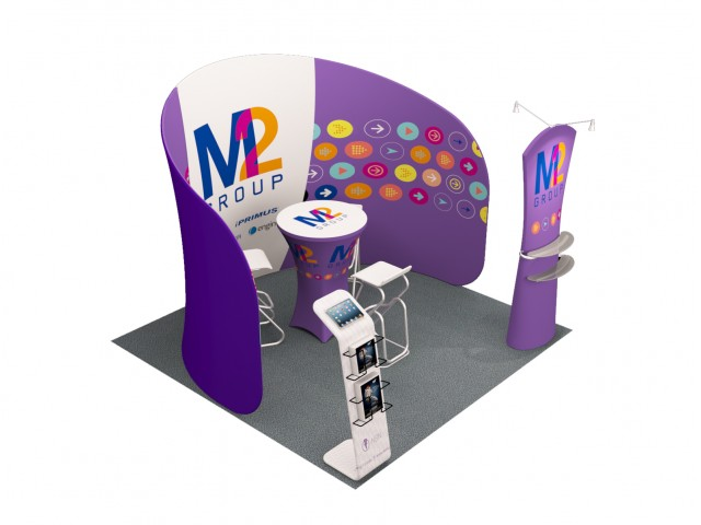 10 x 10ft Portable Exhibition Stand Display Booth K