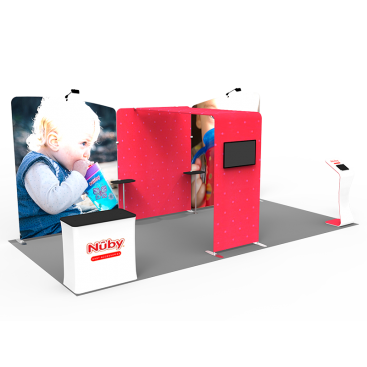 10 x 20ft Custom Trade show Booth Combo 11