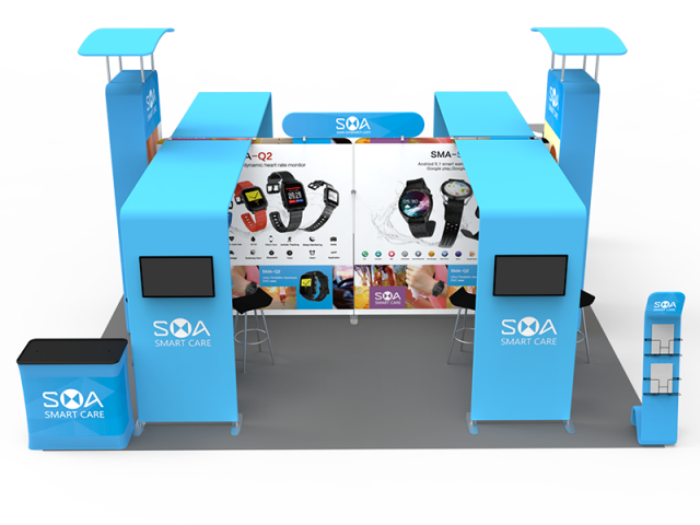 20 x 20ft Custom Trade show Booth Combo D