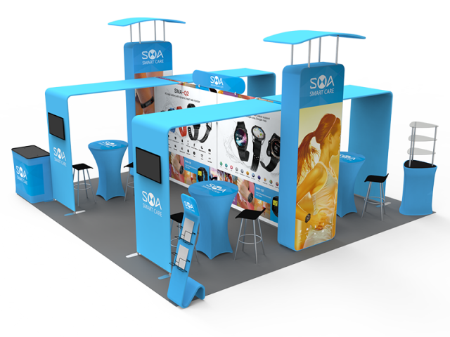 20 x 20ft Custom Trade show Booth Combo 03