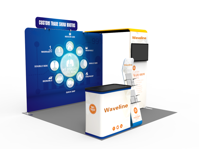 Waveline 10 x 10ft Portable Exhibition Stand Display Booth M