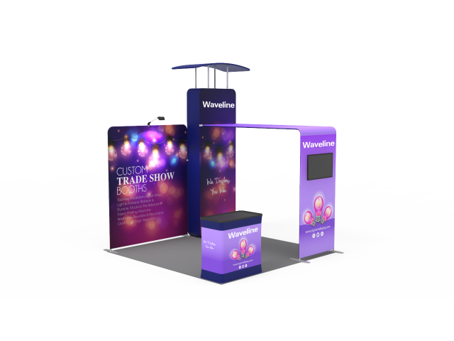 Waveline 10 x 10ft Portable Exhibition Stand Display Booth 07