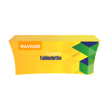 Waveline Custom Logo Printed 6ft Table Cloth